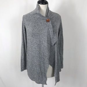 Bobeau Wrap Sweater Shawl Heather Gray